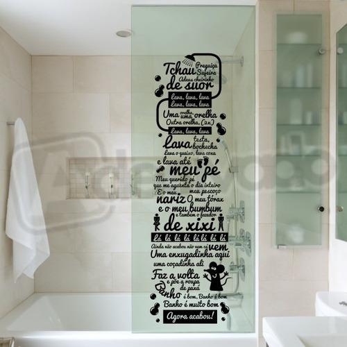 Adesivo Decorativo Box Banheiro Música Castelo Rá-tim-bum