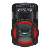 Alto-falante Amvox Aca 188 Gigante Portátil Com Bluetooth Preto 110v/220v