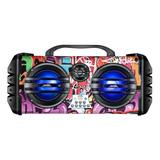 Alto-falante Lenoxx Sound Wave Ca445 Portátil Com Bluetooth Colorido 110v/220v