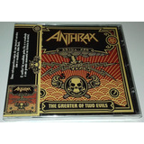 Anthrax   The Greater Of Two Evils  cd Lacrado