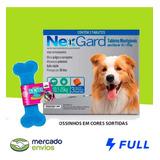 Antipulgas E Carrapatos Nexgard Cão 10 A 25kg Com 3 + Brinde