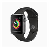 Apple Watch Series 3 (gps) - Caixa De Alumínio Cinza-espacial De 42 Mm - Pulseira Esportiva Preto