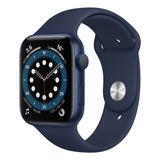 Apple Watch Series 6 (gps) - Caixa De Alumínio Azul De 44 Mm - Pulseira Esportiva Marinho-escuro