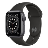 Apple Watch Series 6 (gps) - Caixa De Alumínio Cinza-espacial De 40 Mm - Pulseira Esportiva Preto