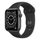 Apple Watch Series 6 (gps) - Caixa De Alumínio Cinza-espacial De 44 Mm - Pulseira Esportiva Preto