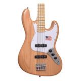 Baixo 4 Cordas Sx Jazz Bass Sjb75 Ash Natural Regulado!