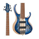 Baixo 5 Cordas Ibanez Btb 845 Cerulean Blue Burst Low Gloss
