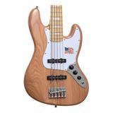 Baixo 5 Cordas Sx Jazz Bass Sjb75 Ash Natural Regulado