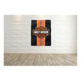 Bandeira Decorativa Harley Davidson Logo