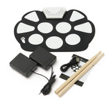 Bateria Eletronica Digital Top Portatil Pedal Baqueta Drum