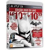 Batman Arkham City Goty Ed Ps3 Cd Blu ray Game Original Novo