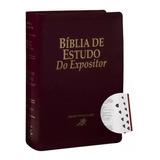 Bíblia De Estudo Do Expositor Com Indice Vinho Editora Sbb