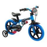 Bicicleta Infantil Nathor Aro 12 Veloz Aro 12 Freio Tambor Cor Azul