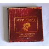Box 4 Cds Deep Purple Live In Europe 1993 Importado Europeu