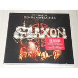 Box Saxon   10 Years Of Denim And Leather  digipack Cd   Dvd