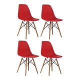 Cadeira Charles Eames Wood Design Kit 04pc Nf