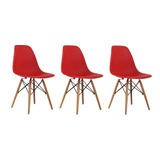 Cadeira Charles Eames Wood Design Kit 3pc Nf  Cores Diversas