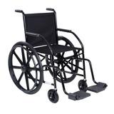 Cadeira De Rodas Cds 102 Cinza Roda De Nylon E Pneu Inflável