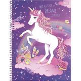 Caderno Unicórnio Cadernos 1 Matéria 96 Folhas   Promoção