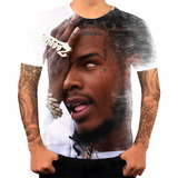 Camiseta Camisa Personalizada Cantor De Rapper Fetty Wap 7