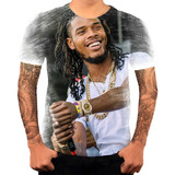 Camiseta Camisa Personalizada Cantor De Rapper Fetty Wap 8