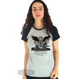 Camiseta Feminina Sam Dean Angels Supernatural Demon Hunter