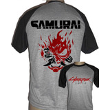 Camiseta Raglan Cyberpunk 2077 Samurai Cd Project Red Game