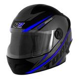 Capacete Para Moto Integral Pro Tork R8 Preto, Azul Tamanho 58