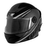 Capacete Para Moto Integral Pro Tork R8 Preto E Prata Tamanho 58
