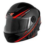 Capacete Para Moto Integral Pro Tork R8 Preto/vermelho Tamanho 56