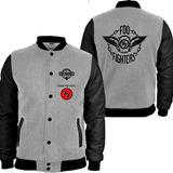 Casaco Moletom Foo Fighters College Blusa Moleton Jaqueta Cd