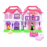 Casinha De Boneca My House G Com Bonecos Luz Sons Acessórios