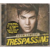Cd Adam Lambert   Trespassing   Lacrado Deluxe   Sony 2012
