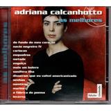 Cd Adriana Calcanhotto   As Melhores