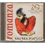 Cd Andrea Bocelli   Romanza 20 Th Anniversary Edition