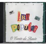 Cd Art Popular   O Canto Da Razão