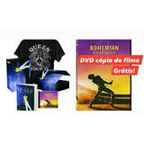 Cd Bohemian Rhapsody Queen Magic Works Box Livro Camiseta