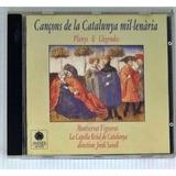 Cd Cançons De La Catalunya Mil lenária   Seminovo