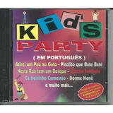 Cd Cantigas De Roda    Kids Party  em Português  Raro