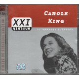 Cd Carole King   21 Grandes  Sucessos Cd Duplo
