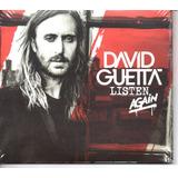 Cd David Guetta   Listen Again Cd Duplo