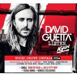 Cd David Guetta   Listen Again Deluxe   Promoção Só Hoje