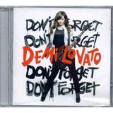 Cd Demi Lovato   Dont Forget   Original E Lacrado