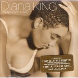 Cd Diana King   Think Like A Girl   Usado