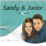 Cd Duplo Sandy E Junior   Sem Limite   30 Sucessos   Novo