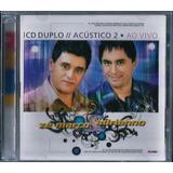 Cd Duplo Zé Marco E Adriano Acústico 2 Playback Incluso