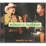 Cd Edson E Hudson   Acústico Ao Vivo