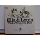 Cd Ella Fitzgerald & Louis Armstrong Trilogy 3 Cds Novo Lac