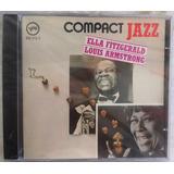 Cd Ella Fitzgerald Louis Armstrong Frete Grátis Compact Jazz