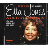 Cd Etta Jones & Houston Person Way We Were Live In Concert